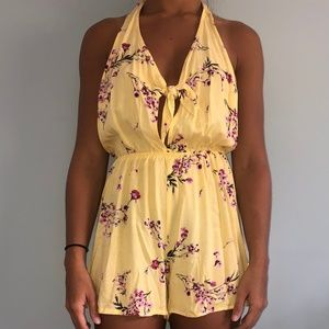 Pacsun   Yellow Floral Romper
